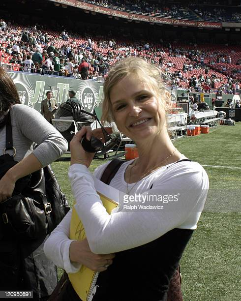 Kyra Sedwick at the New York Jets 31 to 28 loss to the Indianapolis Colts at Giants Stadium in East Rutherford New Jersey on September 10 2006