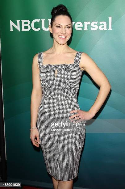 Kyra Zagorsky arrives at the NBC/Universal 2014 TCA Winter press tour held at The Langham Huntington Hotel and Spa on January 19 2014 in Pasadena...