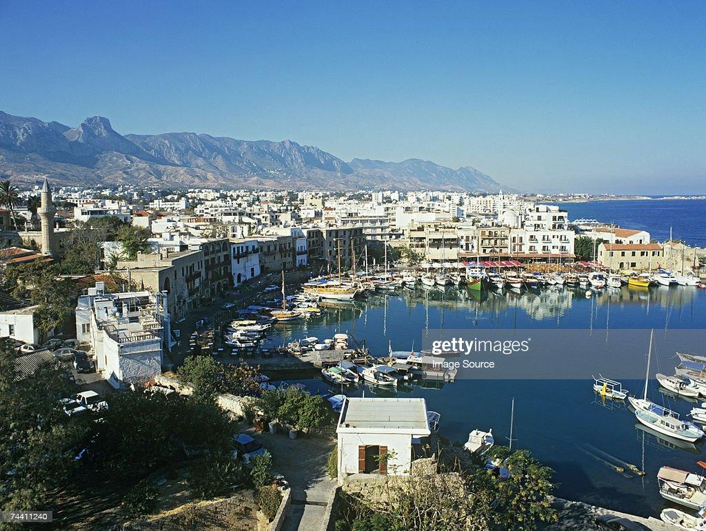 Kyrenia harbour cyprus : Stock Photo
