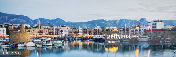 kyrenia port, cyprus - cyprus island stock pictures, royalty-free photos & images