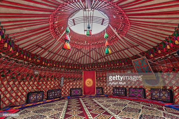A Kyrgyz traditional Yurt