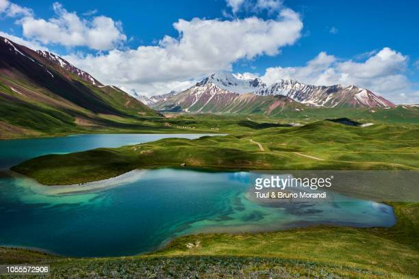 kyrgyzstan, base camp of the pic lenine - osh stock pictures, royalty-free photos & images