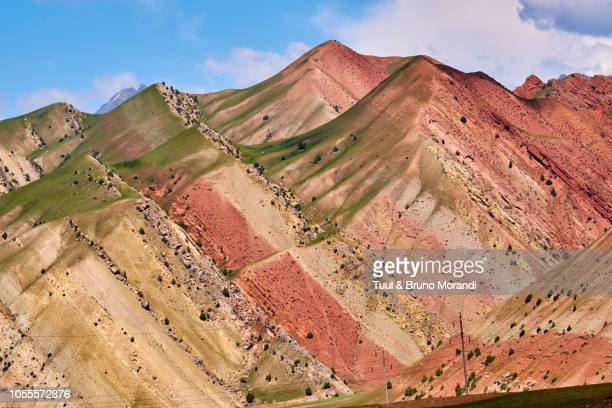 kyrgyzstan, the landscape on the pamir highway - osh stock pictures, royalty-free photos & images