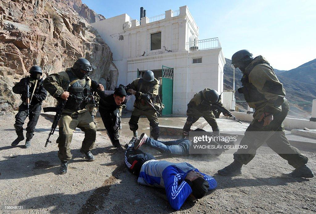 KYRGYZSTAN-ANTI-TERROR-EXERCISES : News Photo