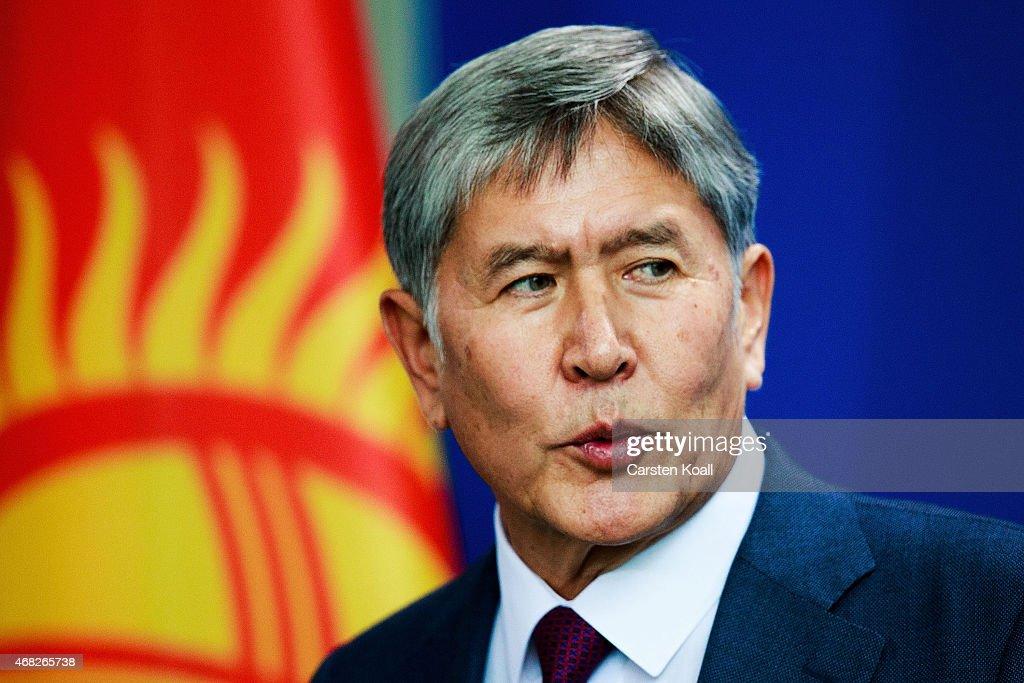 Kyrgyzstan President Atambayev Visits Berlin