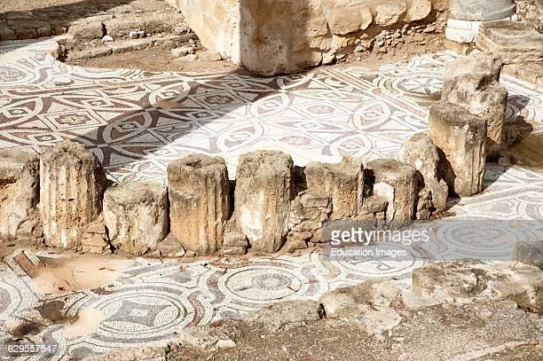 Kyriaki Church and ancient remains Paphos Cyprus.