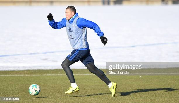 Kyriakos Papadopoulos of Hamburg in action during a the training session of Hamburger SV at Volksparkstadion on February 28 2018 in Hamburg Germany