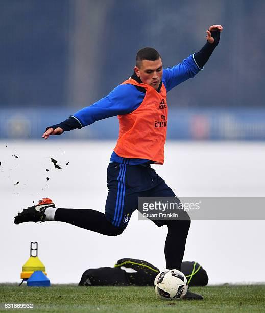 Kyriakos Papadopoulos of Hamburg in action during a training session of Hamburger SV on January 17 2017 in Hamburg Germany