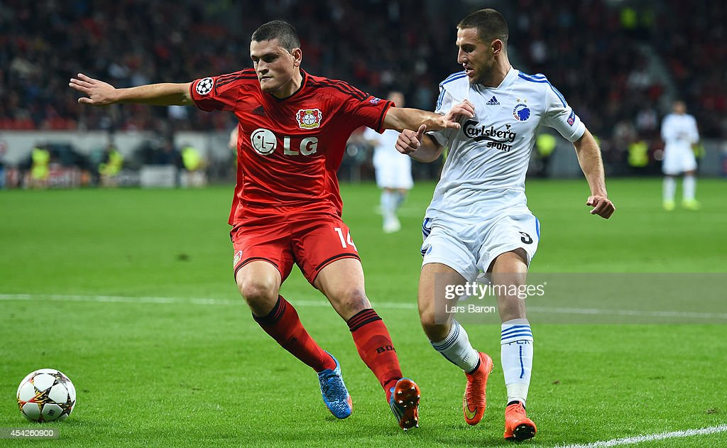 Bayer Leverkusen v FC Copenhagen - UEFA Champions League Qualifying Play-Offs Round: Second Leg : News Photo