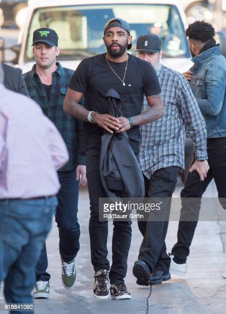 Kyrie Irving is seen at 'Jimmy Kimmel Live' on February 15 2018 in Los Angeles California