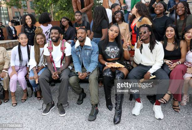 Kyrie Irving Michael B Jordan and Megan Thee Stallion attend the front row for Coach 1941 during New York Fashion Week on September 10 2019 in New...