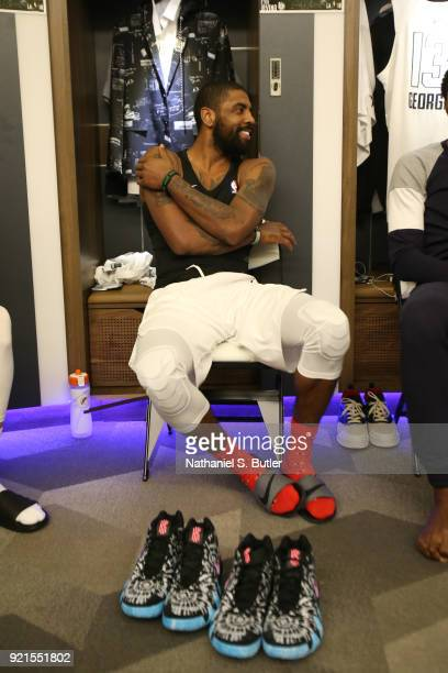 Kyrie Irving of Team LeBron before the game against Team Stephen during the NBA AllStar Game as a part of 2018 NBA AllStar Weekend at STAPLES Center...