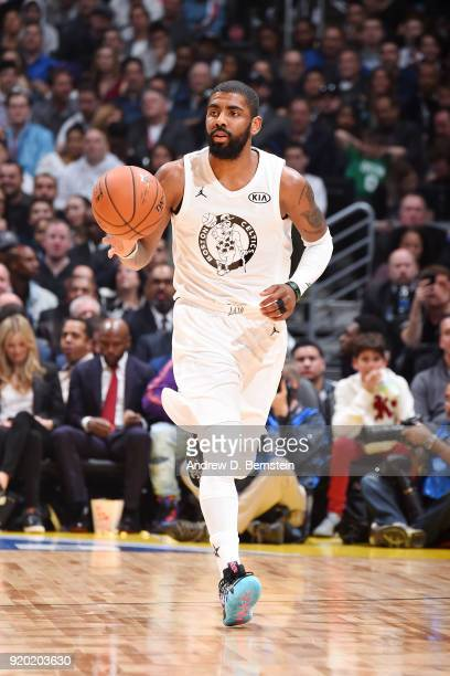 Kyrie Irving Of Team LeBron handles the ball during the NBA AllStar Game as a part of 2018 NBA AllStar Weekend at STAPLES Center on February 18 2018...