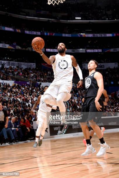 Kyrie Irving Of Team LeBron shoots the ball during the NBA AllStar Game as a part of 2018 NBA AllStar Weekend at STAPLES Center on February 18 2018...