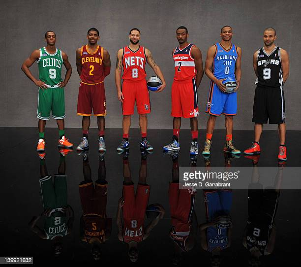 Kyrie Irving of teh Cleveland CavaliersTony Parker of the San Antonio Spurs Rajon Rondo of the Boston CelticsJohn Wall of the Washington...