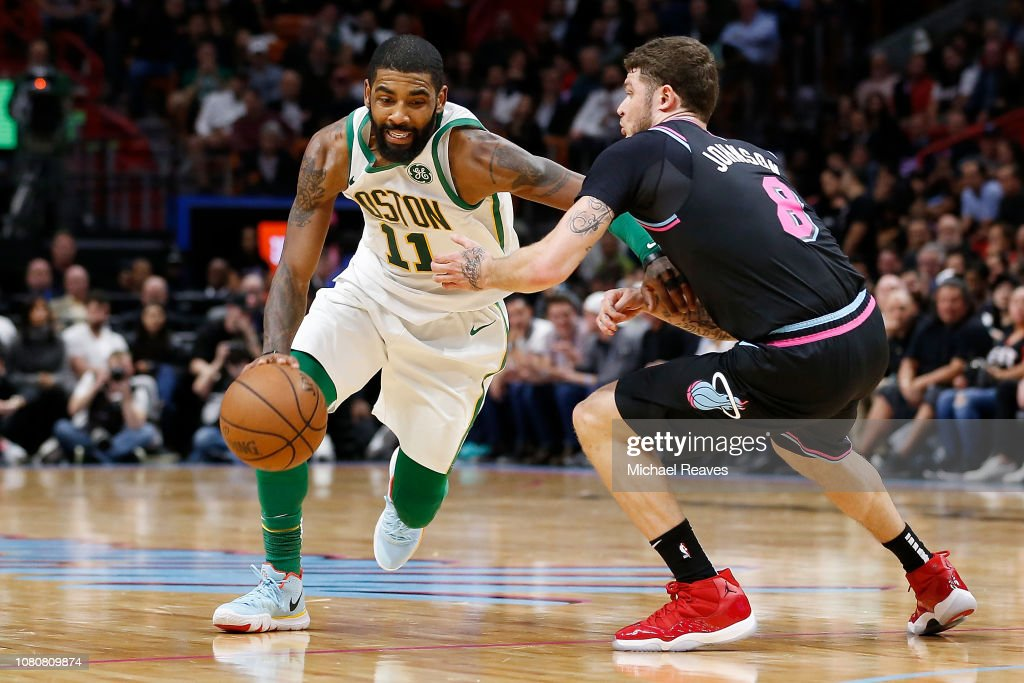 grossiste c7cd1 32e01 Kyrie Irving of the Boston Celtics drives to the basket ...