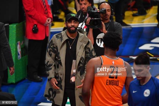 Kyrie Irving of the Boston Celtics seen during the Mountain Dew Kickstart Rising Stars Game during AllStar Friday Night as part of 2018 NBA AllStar...