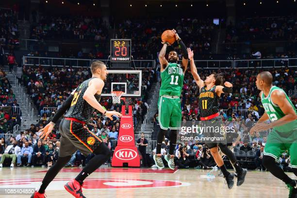 Kyrie Irving of the Boston Celtics shoots the ball against the Atlanta Hawks on January 19 2019 at State Farm Arena in Atlanta Georgia NOTE TO USER...
