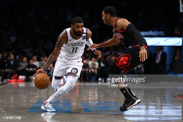 Kyrie Irving of the Brooklyn Nets in action against the Chicago Bulls at Barclays Center on January 31 2020 in New York City NOTE TO USER User...