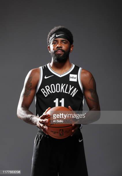 Kyrie Irving of the Brooklyn Nets poses for a portrait during Media Day at HSS Training Center on September 27, 2019 in New York City.