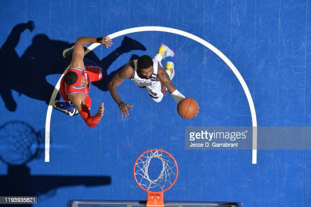 Kyrie Irving of the Brooklyn Nets shoots the ball against the Philadelphia 76ers on January 15, 2020 at the Wells Fargo Center in Philadelphia,...