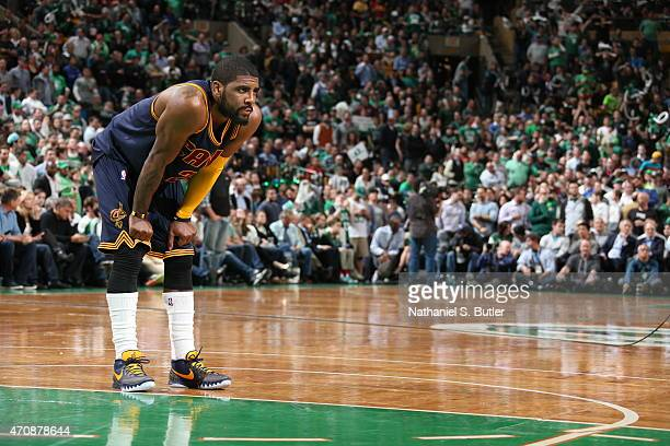 Kyrie Irving of the Cleveland Cavaliers during the game against the Boston Celtics during Game Three of the Eastern Conference Quarterfinals of the...