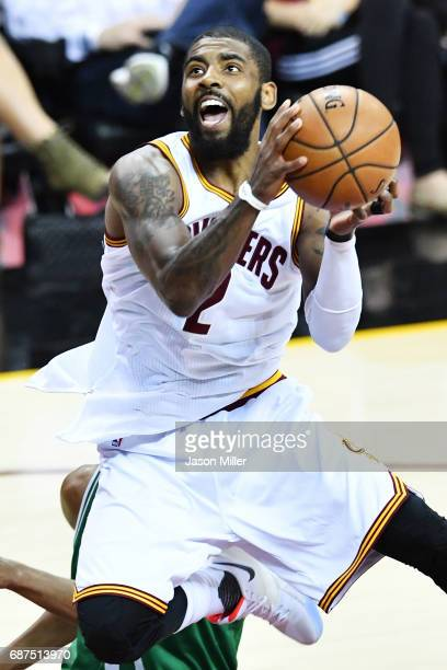 Kyrie Irving of the Cleveland Cavaliers shoots against the Boston Celtics in the first quarter during Game Four of the 2017 NBA Eastern Conference...