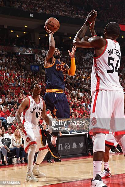 Kyrie Irving of the Cleveland Cavaliers shoots the ball against the Toronto Raptors during Game Six of the NBA Eastern Conference Finals at Air...