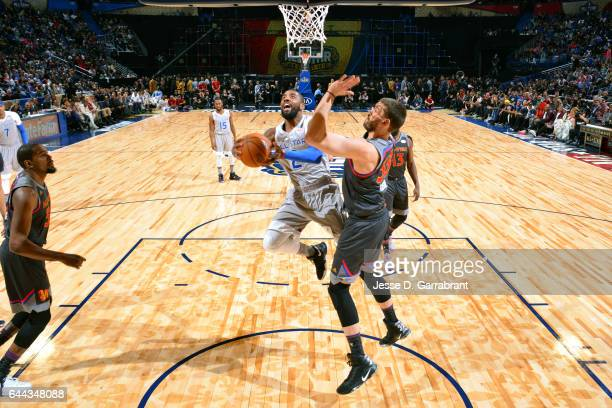 Kyrie Irving of the Eastern Conference AllStar Team during the game against the Western Conference AllStar Team during the NBA AllStar Game as part...
