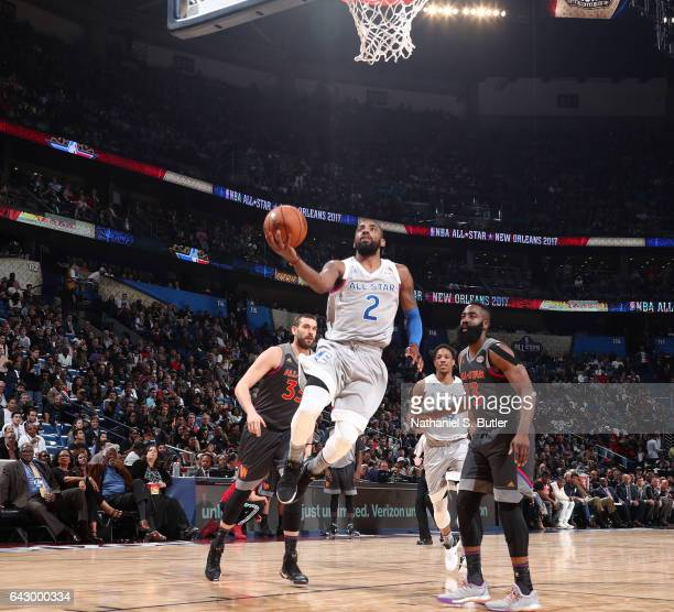 Kyrie Irving of the Eastern Conference AllStars shoots during the NBA AllStar Game as part of the 2017 NBA All Star Weekend on February 19 2017 at...