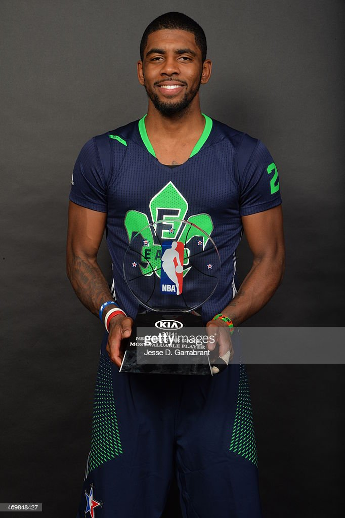 the best attitude f8fbe d50cb Kyrie Irving of the Eastern Conference poses for a picture ...