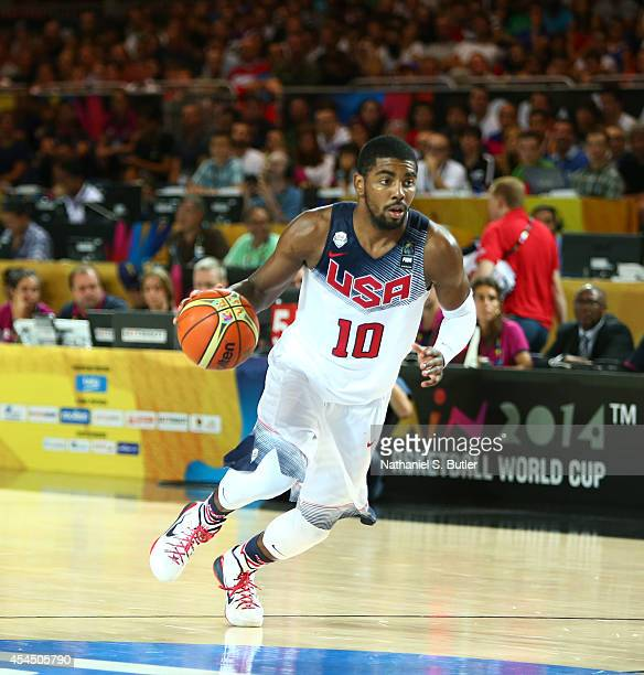 Kyrie Irving of the USA Basketball Men's National Team drives against the New Zealand Basketball Men's National Team during the 2014 FIBA World Cup...