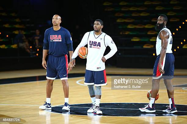 Kyrie Irving of the USA Basketball Men's National Team during a practice for the FIBA World Cup at Bilbao Arena on August 29, 2014 in Bilbao, Spain....