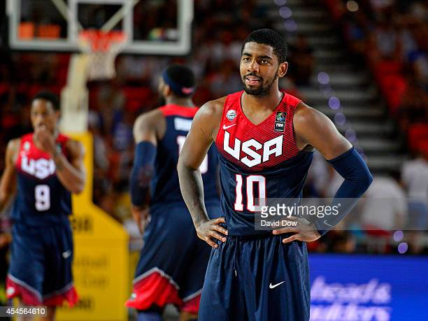 Kyrie Irving of the USA Basketball Men's National Team during a game against the Dominican Republic Basketball Men's National Team during the 2014...
