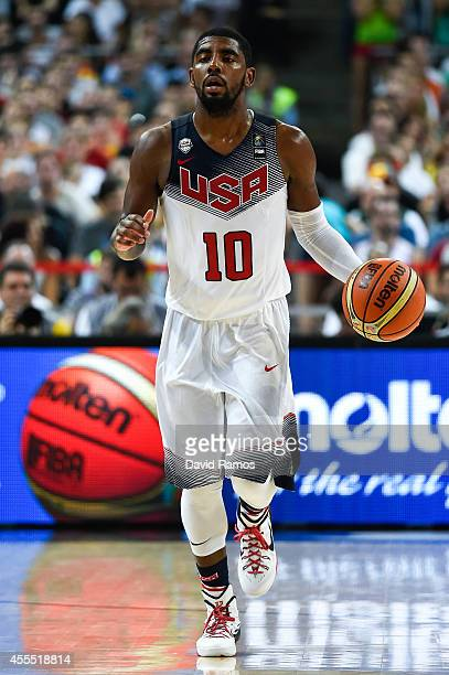 Kyrie Irving of the USA Basketball Men's National Team in action during a 2014 FIBA Basketball World Cup semi-final match between USA and Lithuania...