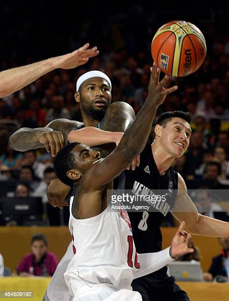 Kyrie Irving of the USA in action against Jarrod Kenny of New Zealand during the 2014 FIBA Basketball World Cup Group C match between USA and New...