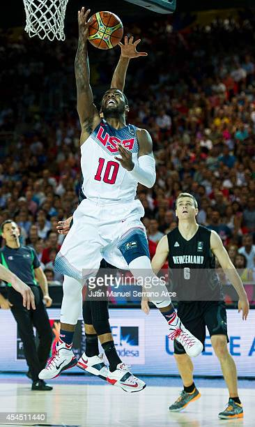 Kyrie Irving of the USA in action against New Zealand during their game at the Bilbao Exhibition Center on September 2, 2014 in Bilbao, Spain.