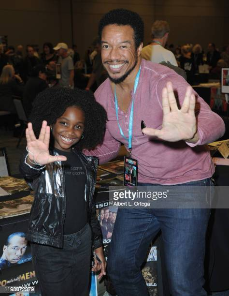 Kyrie Mcalpin and Rico E. Anderson attend the 2020 Hollywood Show held at Marriott Burbank Airport Hotel on February 1, 2020 in Burbank, California.