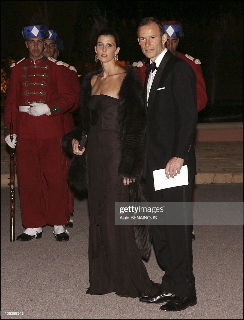 State dinner at the palace for king Juan Carlos and Queen Sofia of Spain in Marrakech, Morocco on January 17, 2005. : News Photo