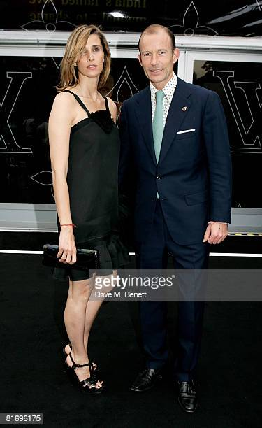 Kyrill Prince of Preslav and Princess Rosario of Bulgaria attend the Louis Vuitton Richard Prince dinner hosted by Marc Jacobs at the Serpentine...