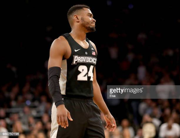 Kyron Cartwright of the Providence Friars reacts to the loss to the Villanova Wildcats during the championship game of the Big East Basketball...