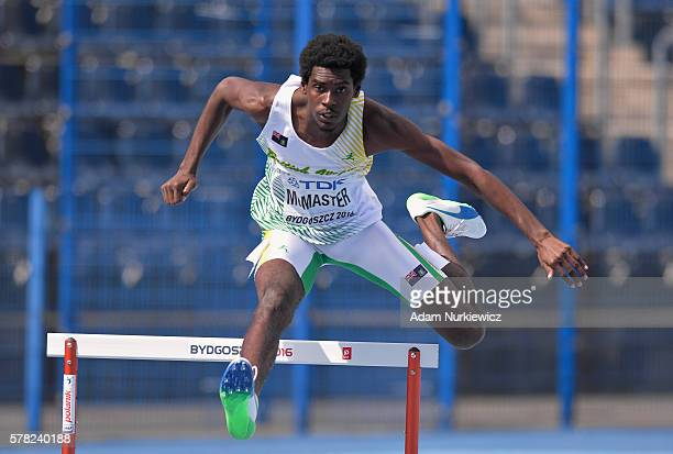 Kyron Mcmaster from British Virgin Islands competes in men's 400 metres hurdles during the IAAF World U20 Championships at the Zawisza Stadium on...
