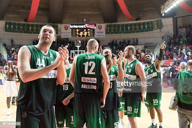 Kyrylo Fesenko of Scandone Avellino in action during the Italy Lega Basket of Serie A match between Openjobmetis Varese and Scandone Avellino 7779 at...