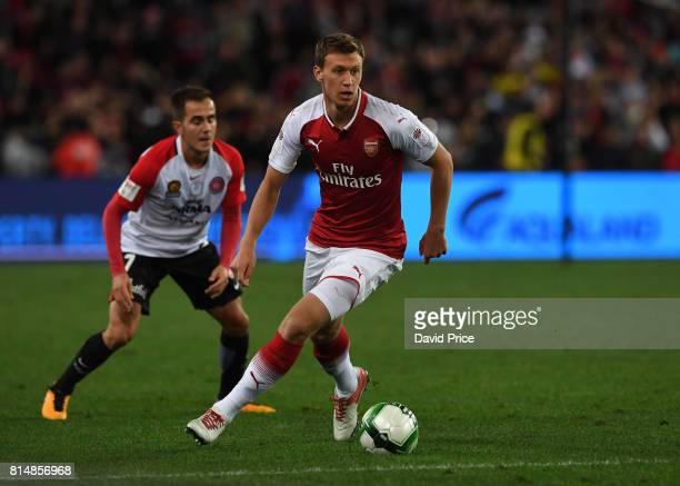 Kystain Bielik of Arsenal during the match between the Western Sydney Wanderers and Arsenal FC at ANZ Stadium on July 15 2017 in Sydney Australia