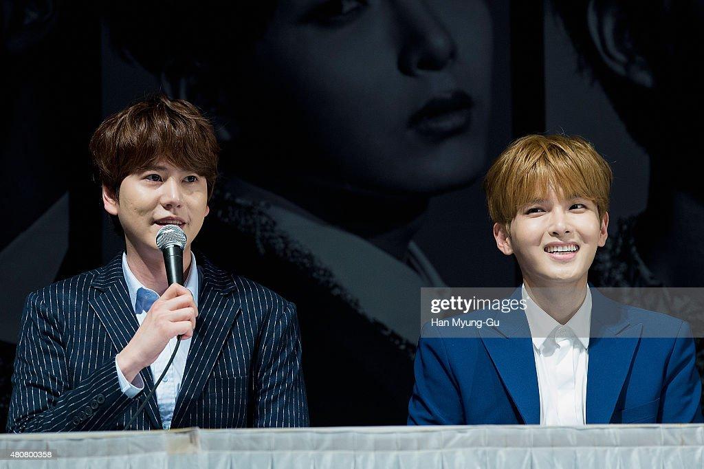 SM Entertainment - Super Junior 10th Anniversary Special Album 'Devil' Press Conference In Seoul : News Photo