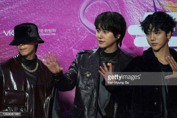 Kyuhyun of South Korean boy band Super Junior attends the 29th Seoul Music Awards at Gocheok Sky Dome on January 30, 2020 in Seoul, South Korea.
