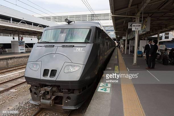 jr 九州787シリーズ日本の鉄道 - 指宿市 ストックフォトと画像