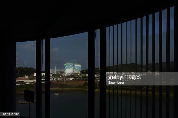 Kyushu Electric Power Co's Sendai Nuclear Power Plant is seen through windows at the plant's public relations facility in Satsumasendai Kagoshima...