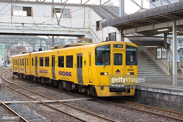 jr 九州 nanohana デラックスエクスプレス鉄道 - 指宿市 ストックフォトと画像