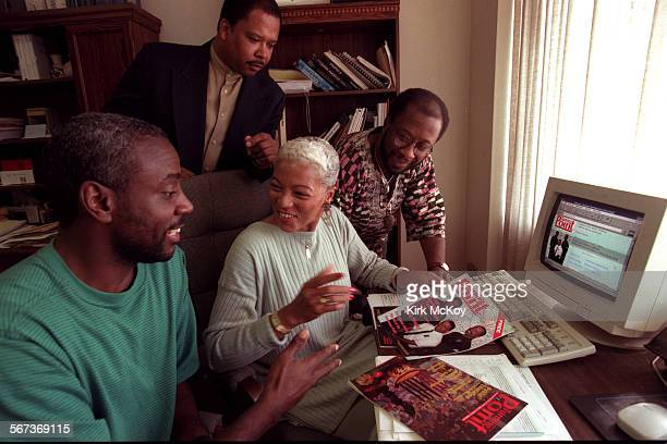 Ron Parker of Software Creations Kay Hixson publisher of Turning Point Magazine James Liggins of Inner City Computer Society and Kwaki Jones HTML...
